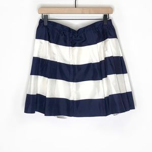 ✨J Crew Pleated Navy & White Striped Skirt sz 4